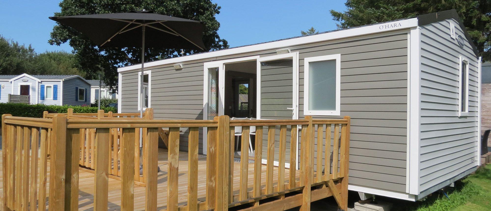 Location mobil-home Life camping à proximité du parc en Bretagne