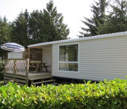 location mobil-home loggia : camping près du parc les 3 récrés